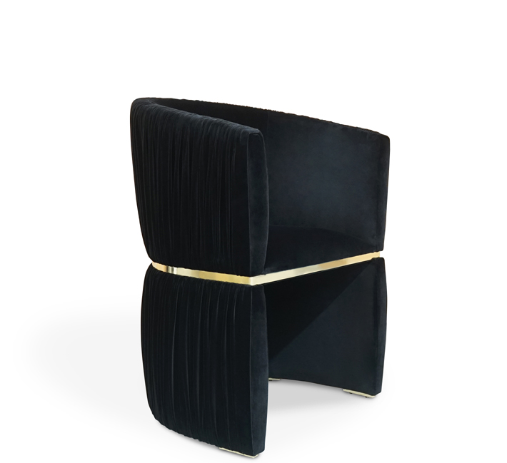 cuff chair by koket black and gold