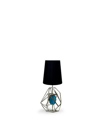gem table lamp koket aegean teal color of the year 2021