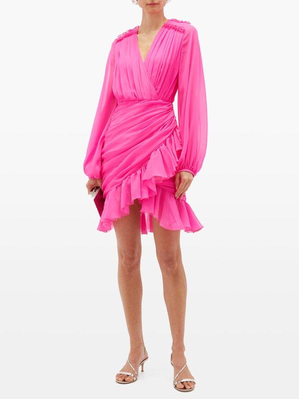 Giambattista Valli Draped Mini Dress
