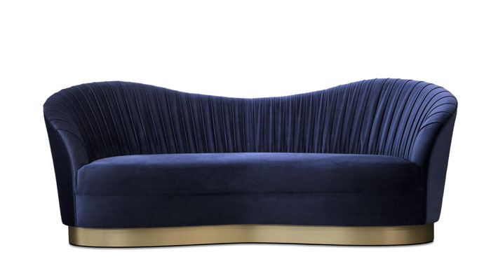 kelly sofa in blue with ruched back by koket luxury designer sofas