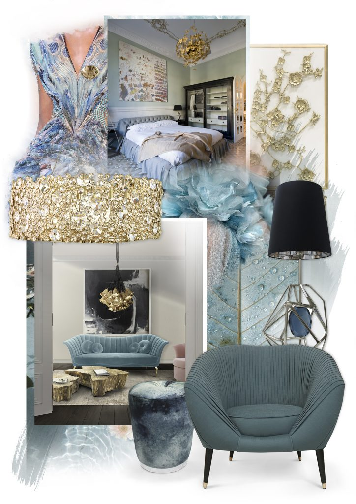 KOKET Projects Moodboard featuring Color of the Year 2021 Aegean Teal