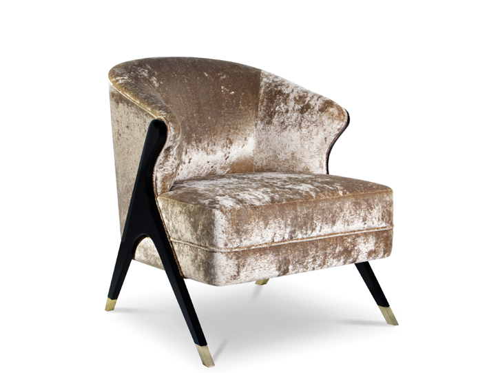 naomi crushed velvet chair by koket