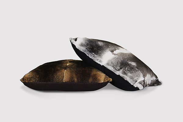 best holiday gifts for design lovers rabbit fur Orilag Pillow from KOKET