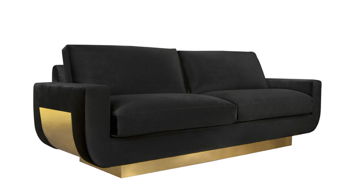 sofia by koket black and gold couch