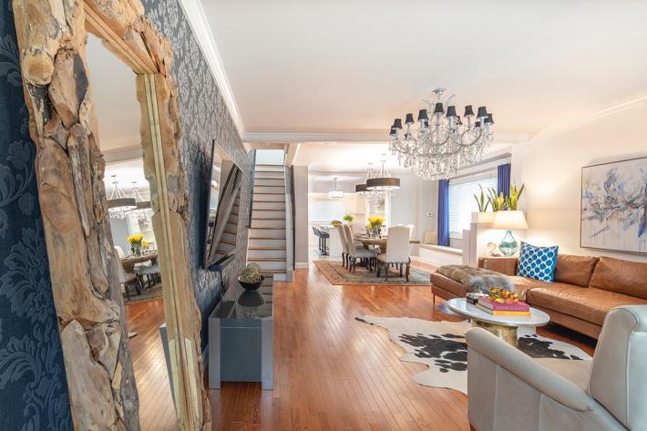 Charlie's Designs LLC luxury open living room dining room