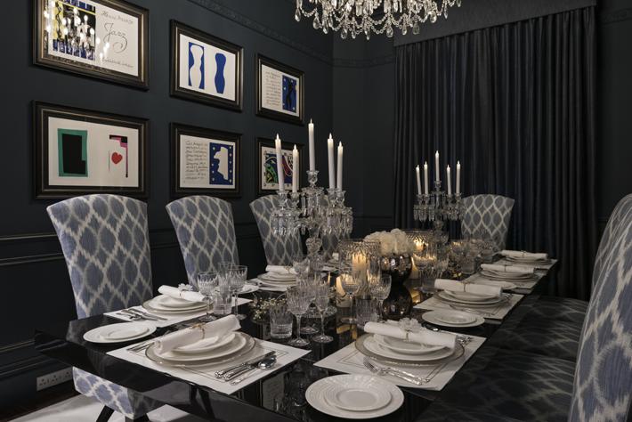 black luxury Dining Room