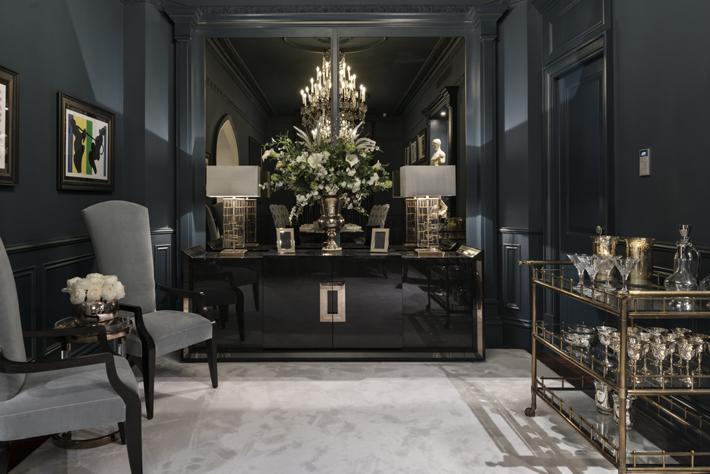 Patsy Blunt Interiors luxury black Dining Room