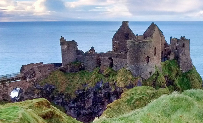 Beautiful TV series locations Dunluce Castle Northern Ireland Game of Thrones
