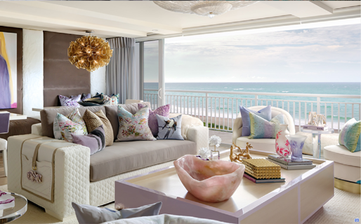 Palm Beach condo designed by Lori Morris