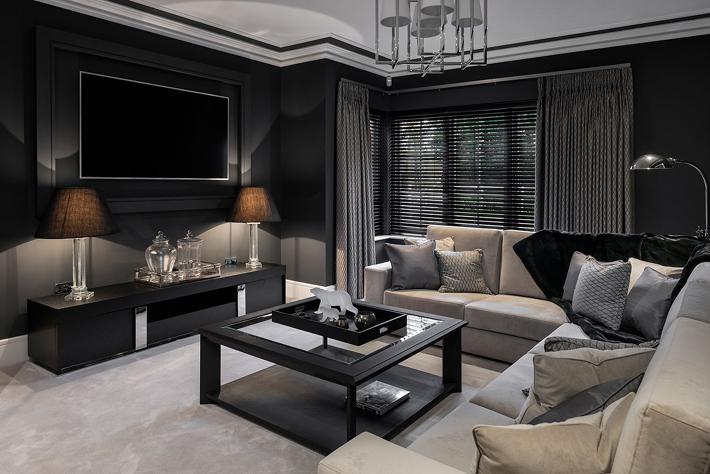 Media Room design by Patsy Blunt Interiors