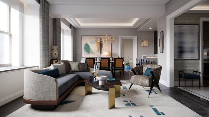 hiring an interior designer - waldorf astoria new york towers residences living room