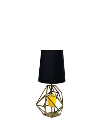 gem table lamp koket pantone color of the year 2021 illuminating yellow