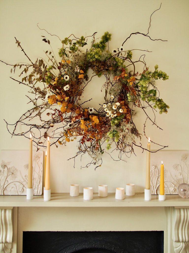 Jam Jar Flowers beautiful Christmas wreaths