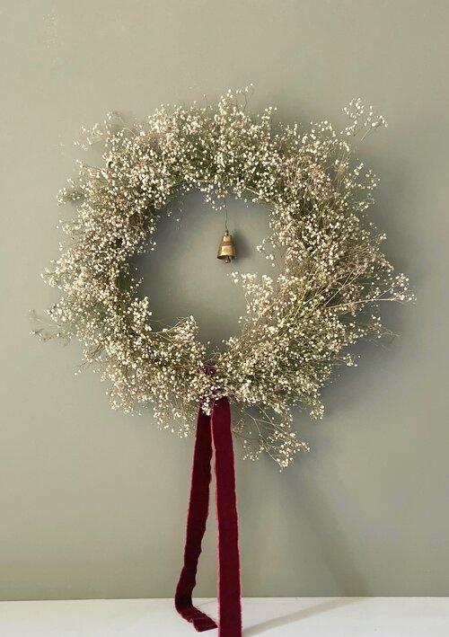 beautiful Christmas wreaths Large Gypsophila Wreath me & my bloomers
