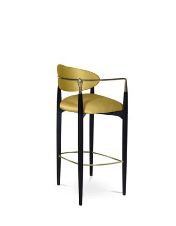 nahema bar stool koket pantone color of the year 2021 illuminating yellow