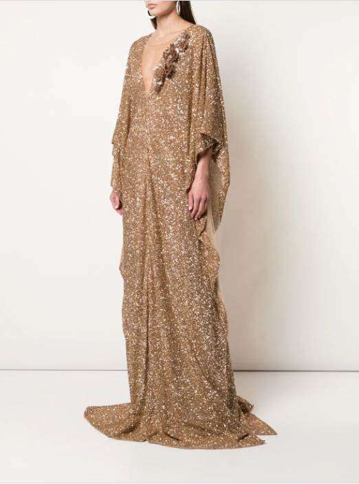 Oscar de la Renta sequin embellished gown (Available from Farfetch)