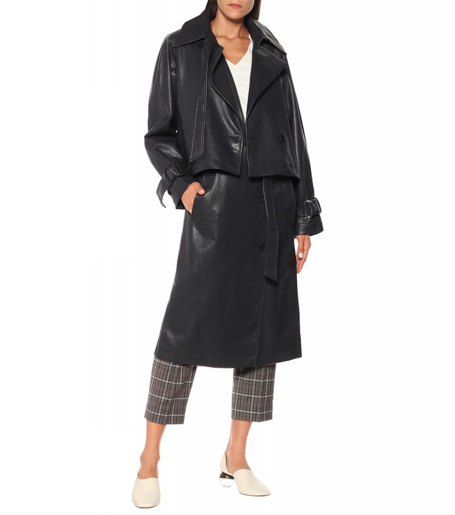 Convertible faux leather trench coat by Tibi (Available from MyTheresa)