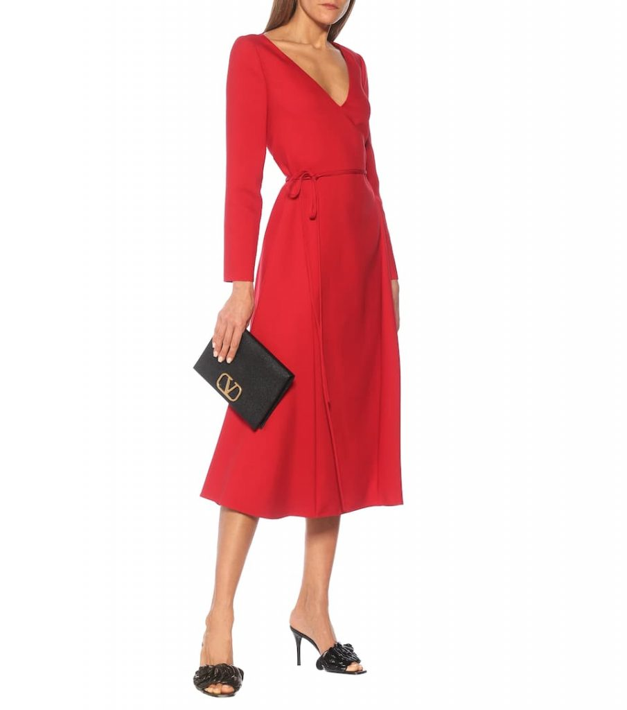 winter fashion trends Valentino cady midi dress