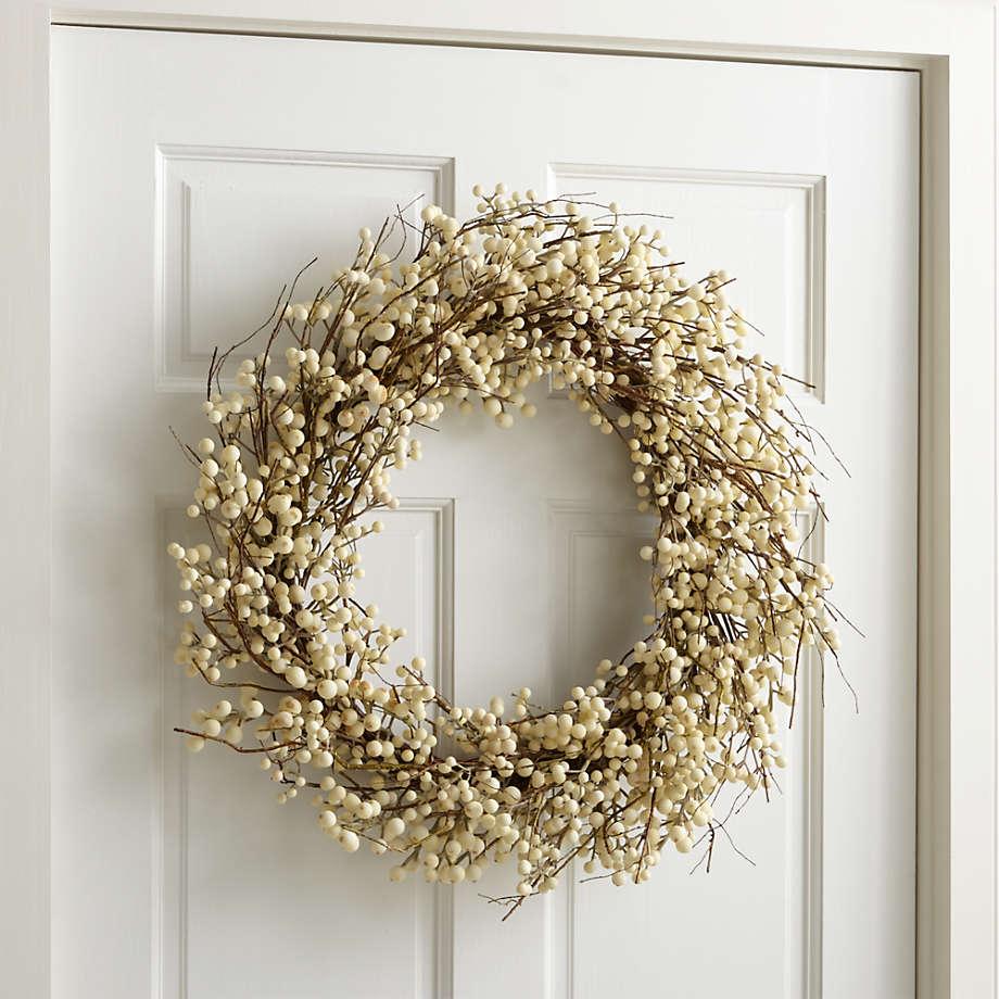 beautiful Christmas wreaths Artificial White Ilex Berry Wreath