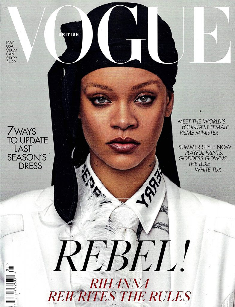 top popular fashion magazines vogue cover featuring Rhianna
