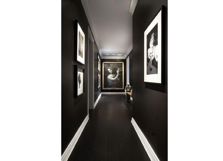 Dennis Brackeen Black Hallway with art