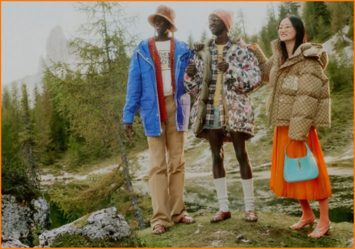 athleisure collaborations luxury brands The North Face X Gucci collaboration