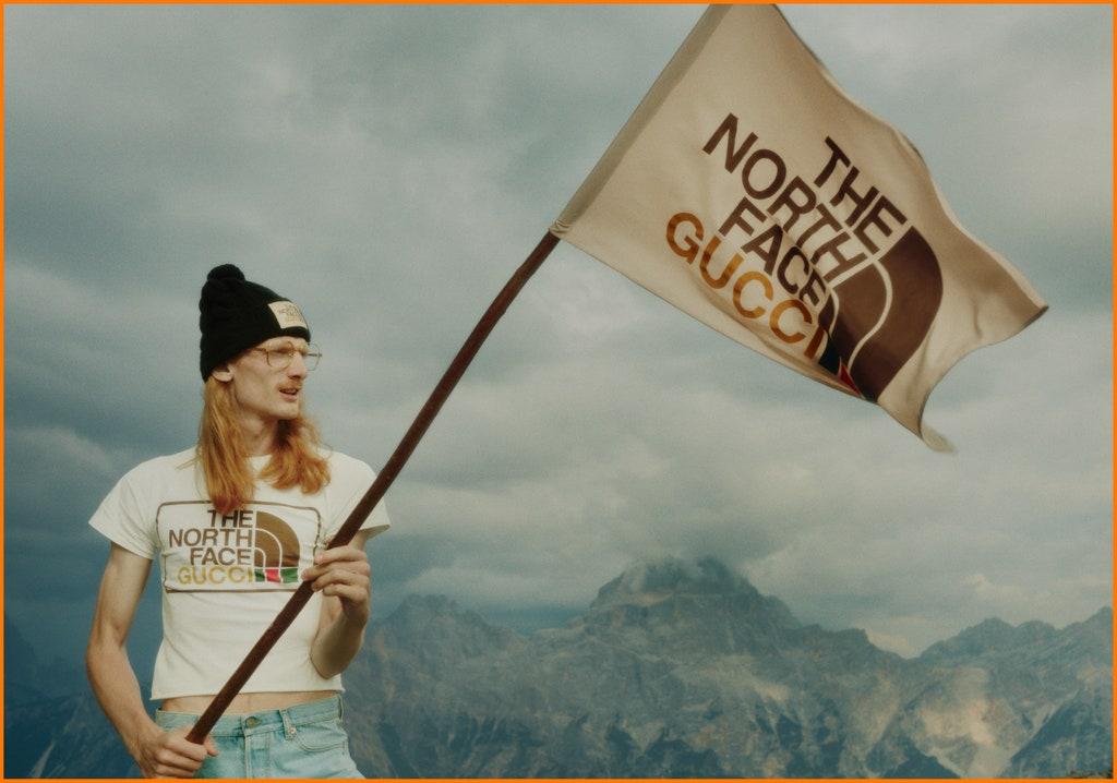 The North Face X Gucci new logo