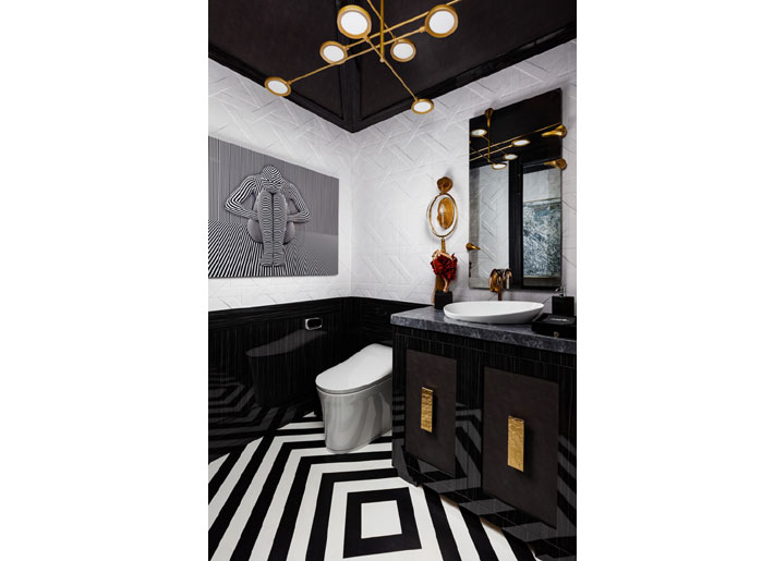 black and white bathroom design by javier fernandez kips bay palm beach 2020
