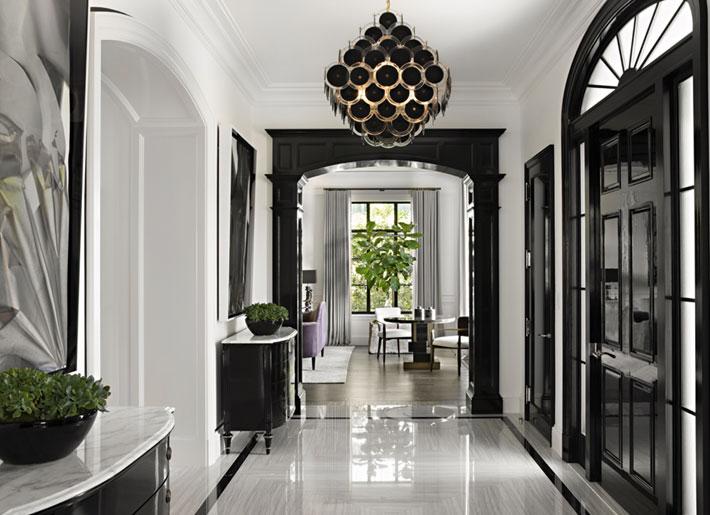 black and white foyer interiors kara smith KES