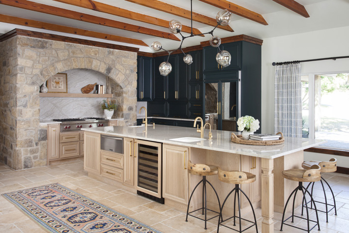 California Spanish vibes in kitchen Interior by BANDD Design Sara Barney