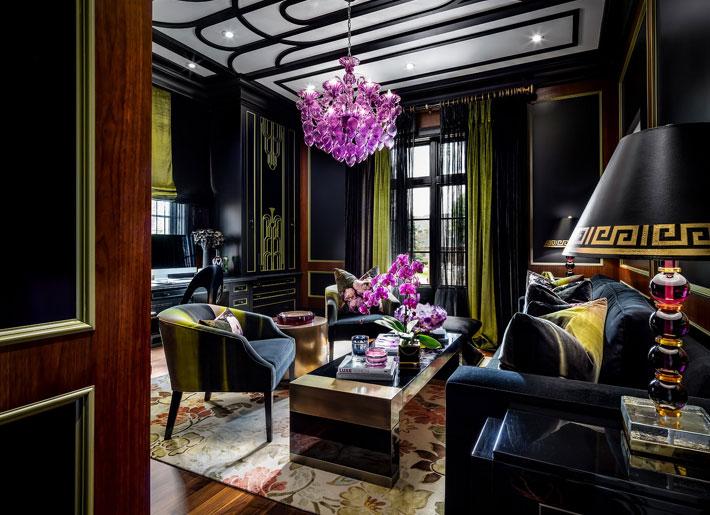 black interiors lori morris sitting room design