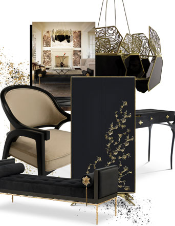 power of black koket furniture interiors