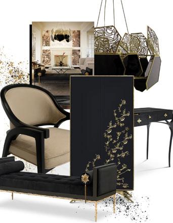 power of black koket furniture interiors
