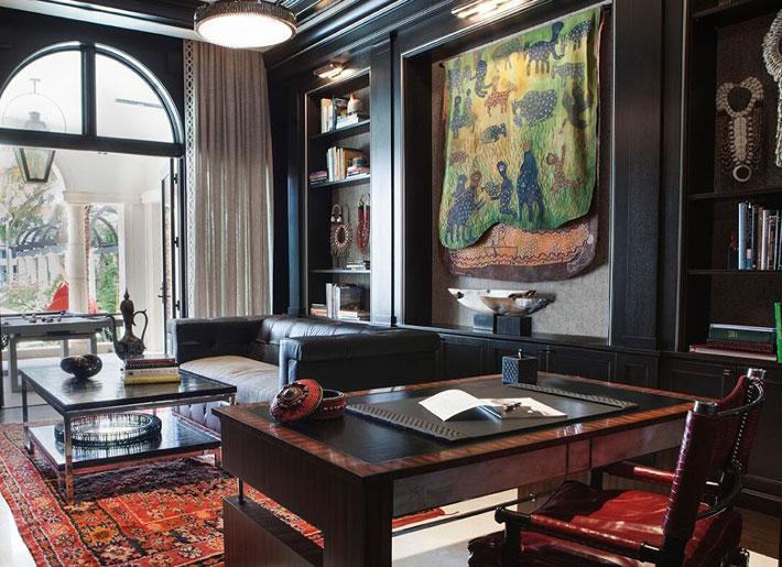 black interiors home office design built-in storage b pila