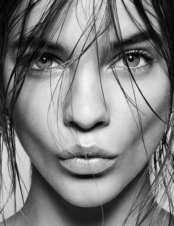 luxury clean beauty beautiful woman black and white photo la fervance