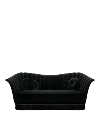 caprichosaII sofa black furniture koket