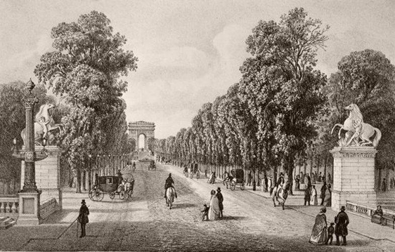 Avenue des Champs-Élysées in the 19th Century