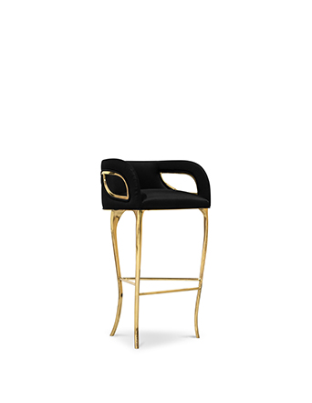 chandra barstool koket black and gold