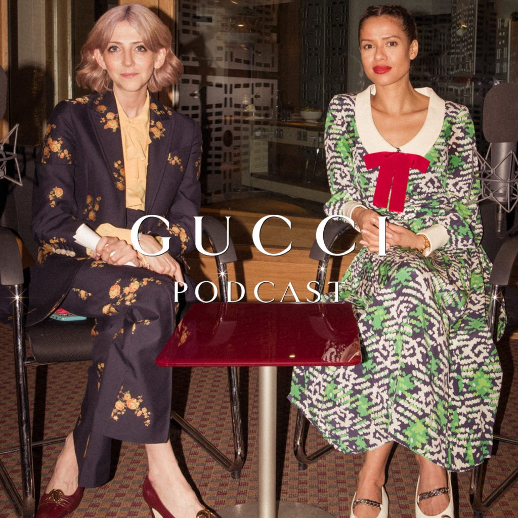 Gugu Mbatha-Raw in conversation with Scarlett Curtis for International Women's Day on Gucci Podcast