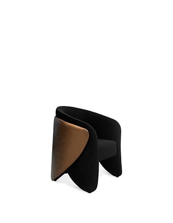 denise chair koket black and bronze