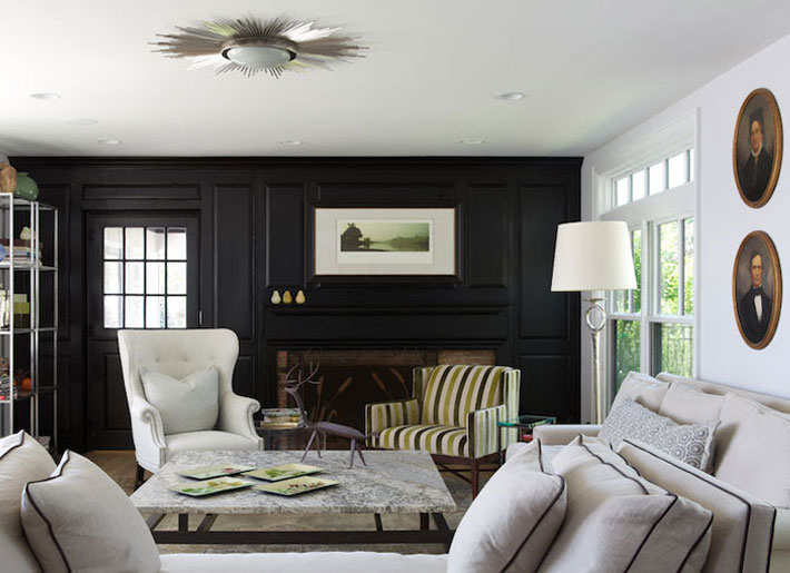 living room with black accent wall keith baltimore