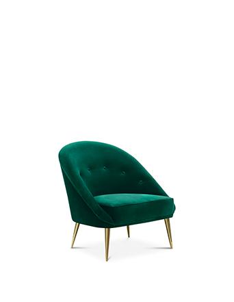 nessa chair koket emerald green