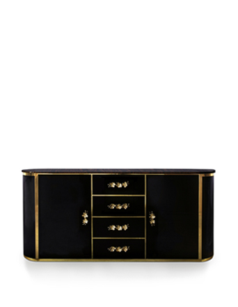 orchidea cabinet koket black and gold