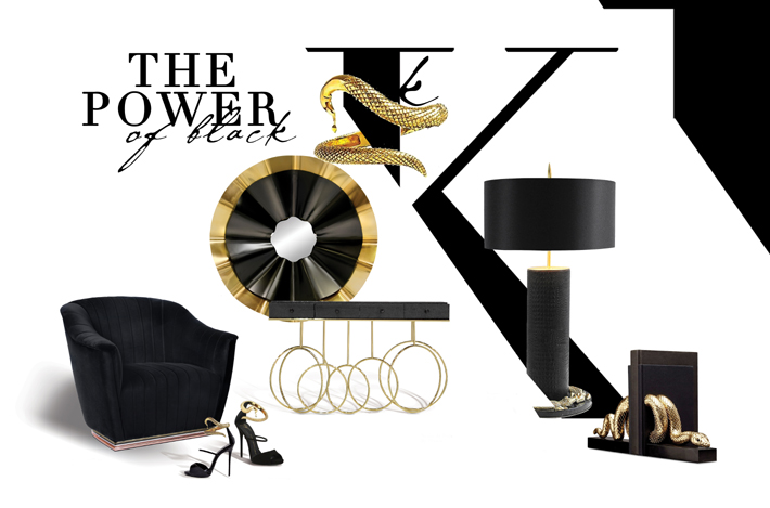 power of black interiors and furniture koket
