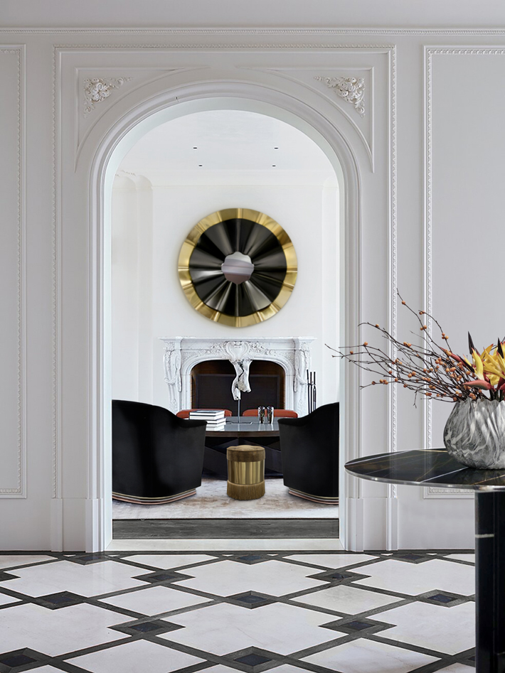 timeless interior design reve mirror mia chairs paris center table olivia pouf koket projects