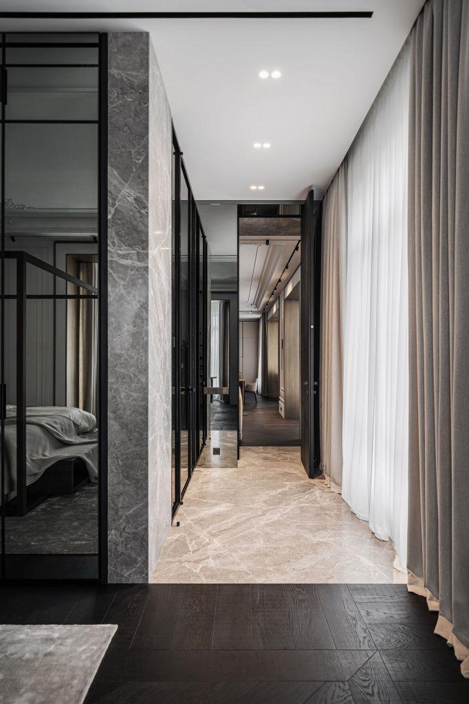 stone hallway apartment design