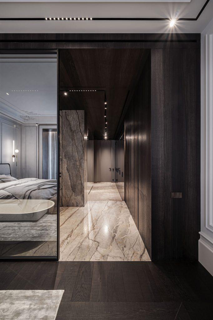 modern master bedroom design kyiv apartment