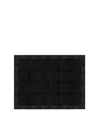 sting ray embossed cowhide jet black rug koket