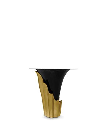 yasmine bar table koket gold and black