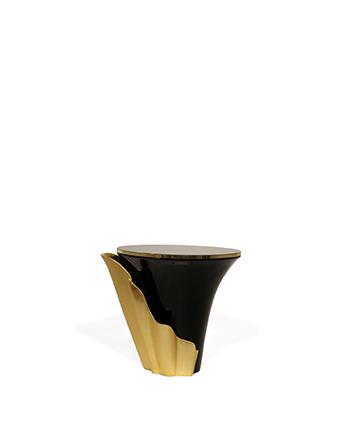 black and gold furniture yasmine side table koket